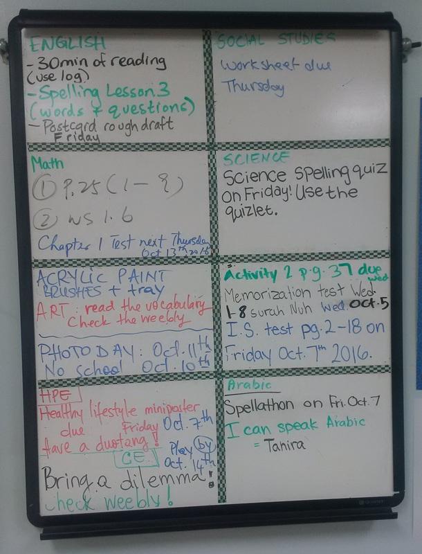October - Grade 7 division 2Mrs Mateescu's class